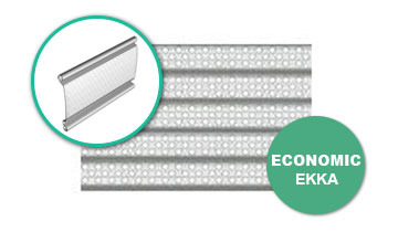 perdele metalice rulou cu lamele perforate Ekka - Economic